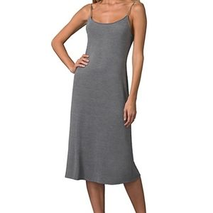 New Natori Solid Night Gown in Heather Grey Size L